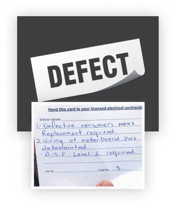 Picture of Defect Notice
